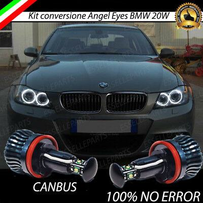 Coppia Lampade H8 Luci Di Posizione Led Bmw Serie 3 E90 6000K Canbus Angel Eyes