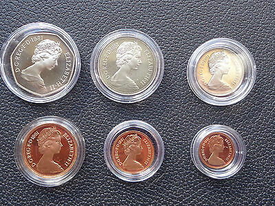 1981 Royal Mint Proof Coin Year Set Supplied In Capsules