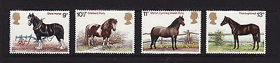 1978 GB Horses,  NH Mint set of stamps SG1063-6