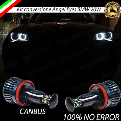 Coppia Lampade H8 Luci Di Posizione Led Bmw X5 E70 6000K Canbus Angel Eyes