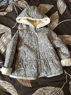Next Girls Untold Story Rabbit Range Furry Lined Jacket 2-3 years Immaculate