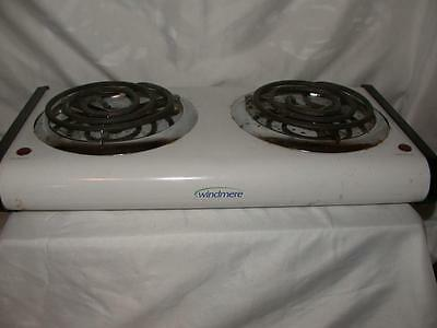 Windmere Electric Double Burner 650W & 1000W Vintage Cooking Stove Works