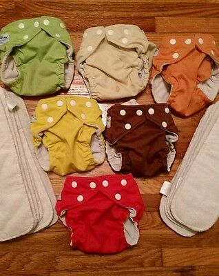 Fuzzibunz one size elite. 6 diapers and 12 inserts!