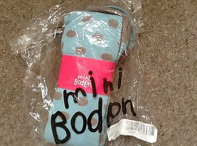 Brand New With Tags Age 9-10 Blue Beige Spotty Boden Girls  Tights