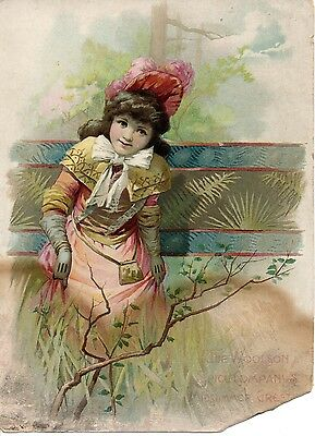 Lion Coffee Woolson Spice Co Victorian Advertising Trade Card Midsummer Greeting