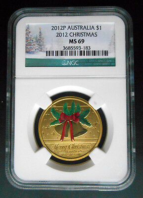 2012 P Australia $1 2012 Christmas NGC MS69  ((Reduced for clearence))