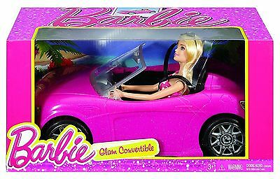 BARBIE Glam Convertible Car & Doll Playset From Mattel - BRAND NEW!