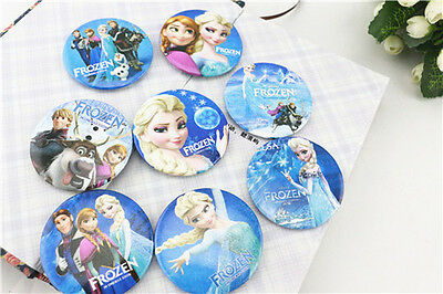 10pcs Frozen Badges Brooch Pin Elsa Anna Birthday Party Girl Supplies Decoration