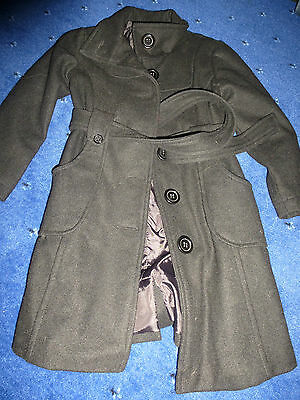 girls wool coat  black in colour 5 to 6 years size 116 cm