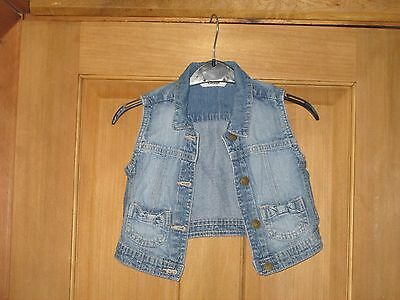 Girls Denim Sleeveless Jacket Age 4-5 Years