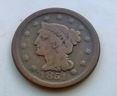 1851 One Cent USA United States