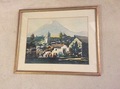 Spain Andalusia country A Spanish Moors  old vintage print picture 41cm X 34 Cm