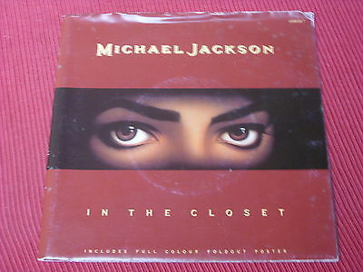 "Michael Jackson:  In the Closet  UK  Near Mint   7""  POSTER SLEEVE"