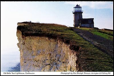 Postcard Old Bell Tout Lighthouse Eastbourne Sussex Unposted