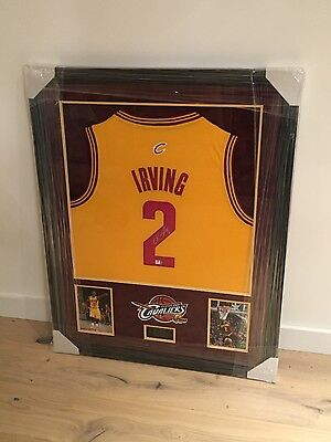 kyrie irving nba cleveland cavaliers signed auto jersey real with coa