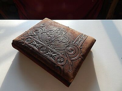Very Large Victorian Photo Album Circa 1870-1910 With 75 Original Pictures Ooak