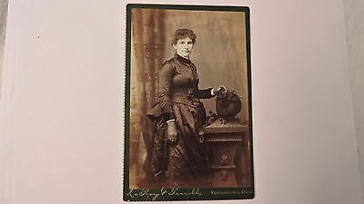 cabinet photo antique beautiful woman with gloves and fantastic hat Ohio