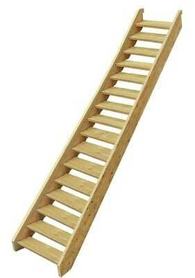 Ezistep Timber 16 Step Stair Kit  Vertical Height of 2720 MM Size 10g x 63.5mm
