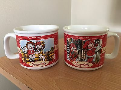 2 Vintage Campbells Soup Mugs 2000