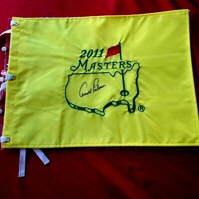 "Awesome! ""2011 Augusta Masters"" Golf Flag Autographed By ""arnold Palmer""!!"
