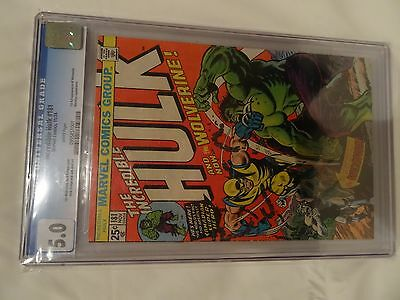Incredible Hulk #181 CGC 5.0 First appearance of Wolverine