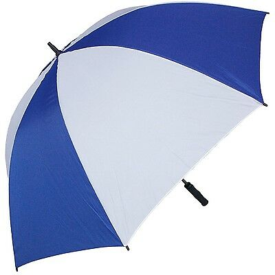 RainStoppers 68-Inch Oversize Windproof Golf Umbrella Royal/White