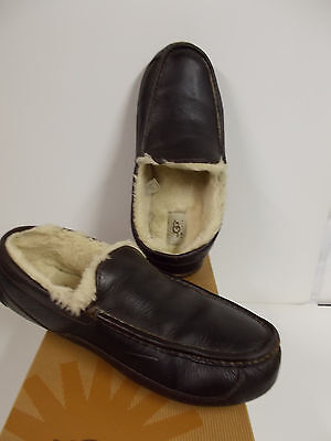 1ecc95fcafbe MEN S UGG AUSTRALIA Slipper Ascot China Tea Leather Brown Size 11 ...