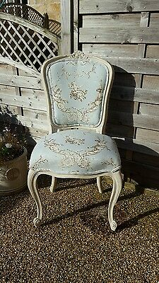 Original,  French Bedroom Upholstered Chair - Painted