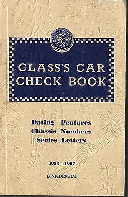 Glass's Car Check Book 1933 1957 Dating Features Chassis Numbers Series Letters