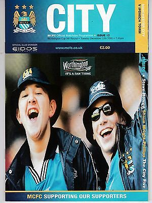 Manchester City V Ipswich Town League Cup  12/12/2000