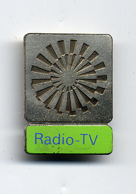 Munich 1972 Olympic Games Official Badge RADIO-TV Pin