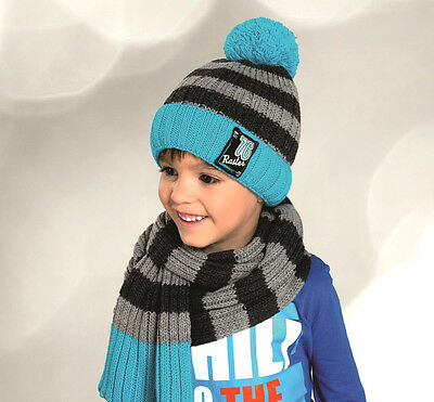 Boys / Junior Hat With Scarf /winter warm-2pcs set - NEW - 4-10 years/ 51- 54 cm