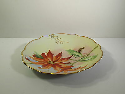 Pickard Hand Painted Porcelain 1905-10 - Naturalistic Poinsettia Flower - Plate
