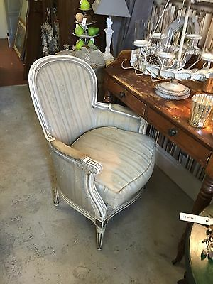 Antique Genuine Beautiful French Armchair- Shabby Chic Reupholstery Project