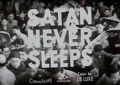 16mm B&W Film: Satan Never Sleeps Trailer and Interview, based 1949 China (1962)