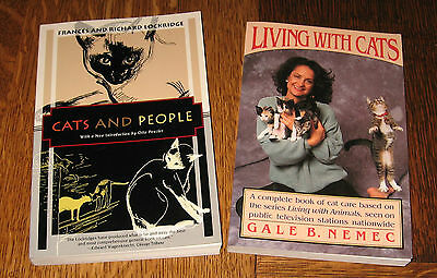 """Cats and People"" AND ""Living With Cats"" BOOKS! YOU TOTALLY NEED THESE BOOKS!"