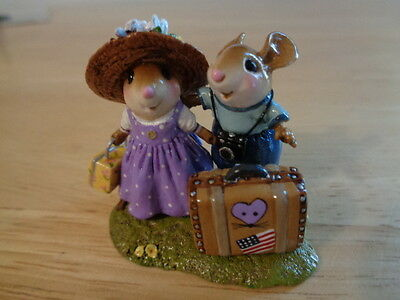 WEE FOREST FOLK ~ THE HONEYMOONERS  & PACKING IT UP SUITCASES ~ M445x ~ MINT/BOX