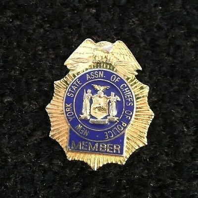 Vintage! Obsolete!  New York City Police Badge - Chief Of Police - Nys Assn.