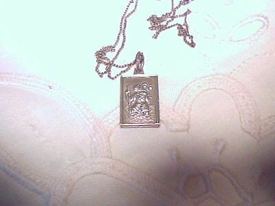 Vintage  Silver St Christopher With Chain
