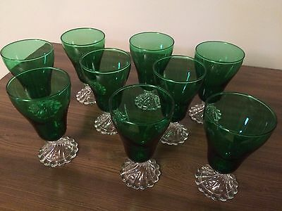 "Anchor Hocking Burple Forest Green 5"" Tumblers (9)"