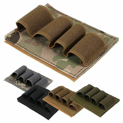 Tactical Hunting 4 Round Shotgun Shell12GAmmo Carrier Holder Velcro Pouch5Colour