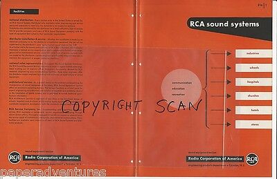 1947 RCA SOUND SYSTEMS Consoles Control Panel Microphone Speaker Vintage Catalog