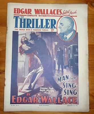 THE THRILLER No 105 Vol 4 7TH FEB 1931 THE MAN FROM THE SING SING  EDGAR WALLACE