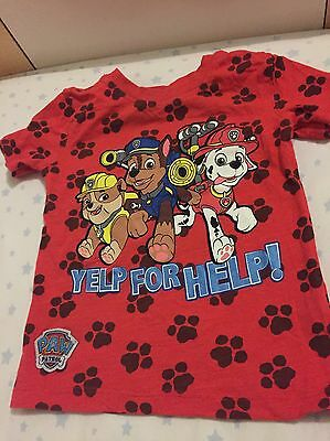 Paw Patrol T-shirt Baby Boy/Girl 1 1/2-2 Years Worn Once Excellent Condition