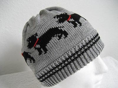 Staffordshire Bull Terrier Dog Knitted Grey Beanie Hat Adult Size