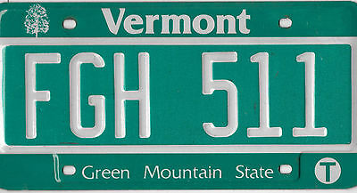 2013 Vermont Green Mountain State License Plate # Fgh 511 Very Nice  Bcplateman