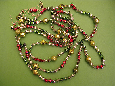 Antique Mercury Glass Christmas Tree Garland Multi Color    76""