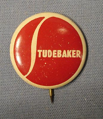 "Studebaker Automobile Pinback Button.  About 7/8"" diameter."
