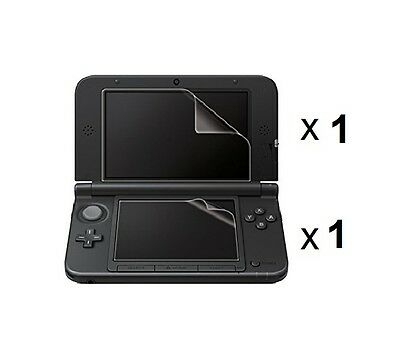 2x Clear Screen Protector Guards with Cloth for NINTENDO 3DS XL & NEW 3DS XL