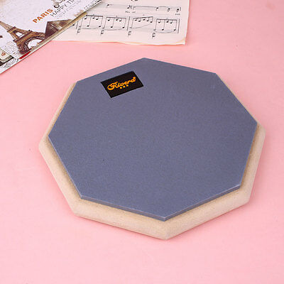 8 Inch Dumb Drum Pad Silent Practice Blow Plate for Beginner Rubber Wooden